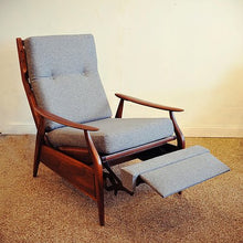 Load image into Gallery viewer, REFINISHED MCM High Back Lounge Chair Reclining, perfect- cushions will be CUSTOM made just for you
