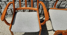 Load image into Gallery viewer, Set of 2 MCM Teak high-back armchairs RESTORED