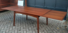 "Load image into Gallery viewer, REFINISHED Danish MCM Teak Draw Leaf Table, 57""-104"" large"