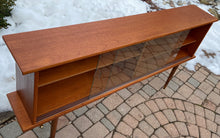 "Load image into Gallery viewer, REFINISHED MCM Teak Display Bookcase 59"" PERFECT, narrow"