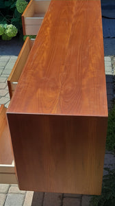 REFINISHED MCM Teak Set of Dresser 9 Drawers and Talboy, PERFECT