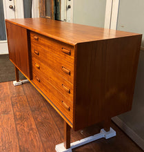 "Load image into Gallery viewer, REFINISHED Danish MCM Teak Sideboard Buffet 60"", perfect"