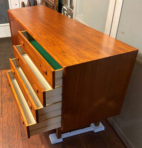 "REFINISHED Danish MCM Teak Sideboard Buffet 60"", perfect"