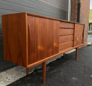 REFINISHED Danish MCM Teak Sideboard Credenza, Perfect