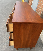 Load image into Gallery viewer, REFINISHED MCM Walnut Dresser with 8 Drawers 63.5""