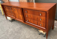Load image into Gallery viewer, On HOLD***REFINISHED MCM Walnut Set of Dresser/Credenza and Tallboy/Gentleman chest