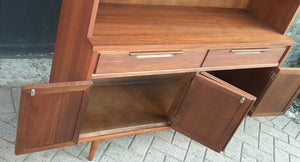 "REFINISHED  MCM Walnut Highboard 48"" PERFECT, compact & narrow"