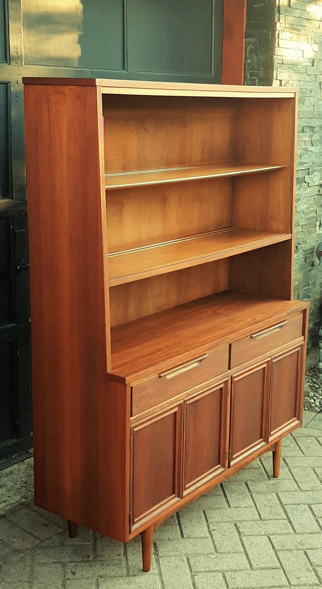 REFINISHED  MCM Walnut Highboard 48