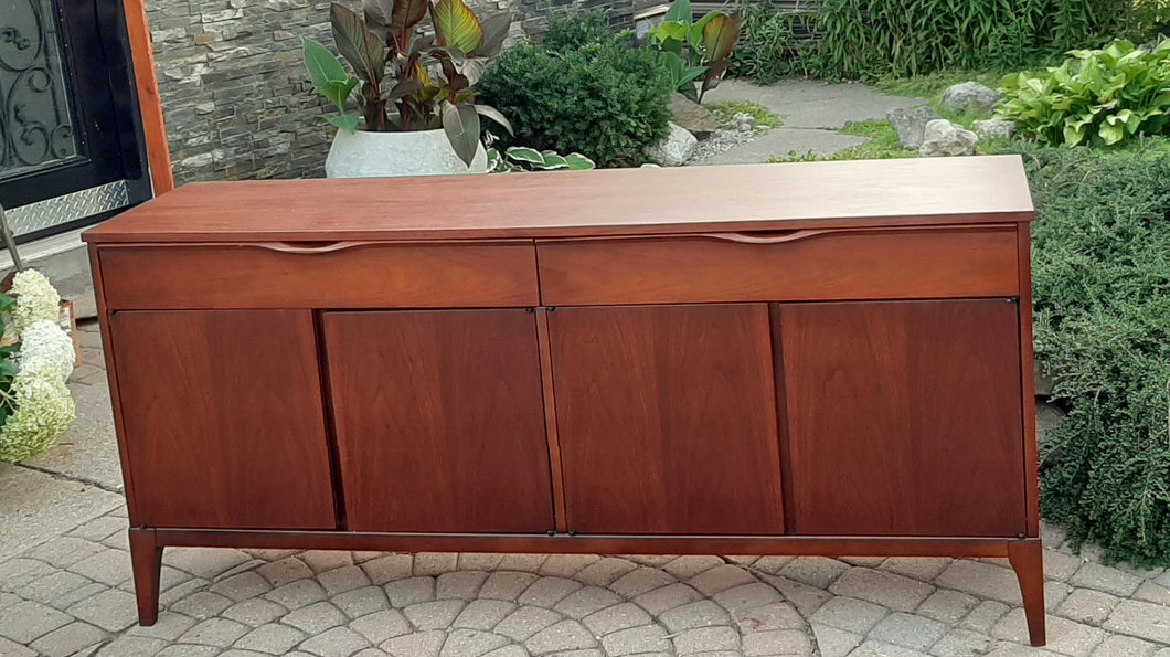 RESTORED MCM Walnut Sideboard Credenza by Kaufman 66.5