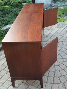 "RESTORED MCM Walnut Sideboard Credenza by Kaufman 66.5"", Mint"