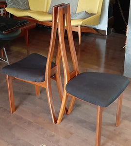 Set of 2 MCM Teak high-back side chairs by RS Associates RESTORED