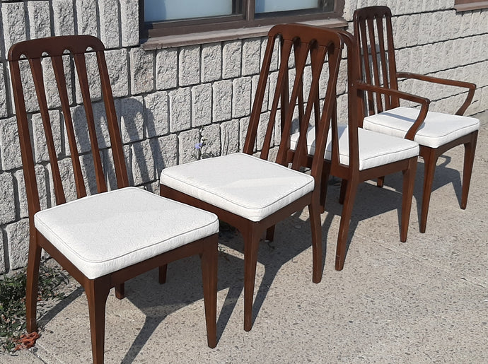 4 MCM Walnut Chairs RESTORED