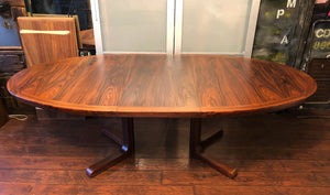"REFINISHED Danish MCM Rosewood Table Oval w 2 Leaves by Skovby 70.5""-109.5""perfect - Mid Century Modern Toronto"