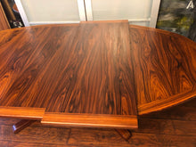 "Load image into Gallery viewer, Set REFINISHED Danish MCM Rosewood Table Oval w 2 Leaves 70-109"" & 6 Chairs, all perfect - Mid Century Modern Toronto"