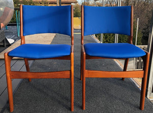 2 MCM Teak Chairs by Johannes Andersen RESTORED REUPHOLSTERED in Maharam fabric, each $189 - Mid Century Modern Toronto