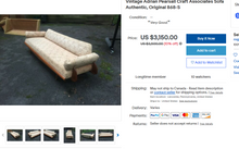 Load image into Gallery viewer, REFINISHED MCM Walnut Sofa / Daybed by Adrian Pearsall 100""