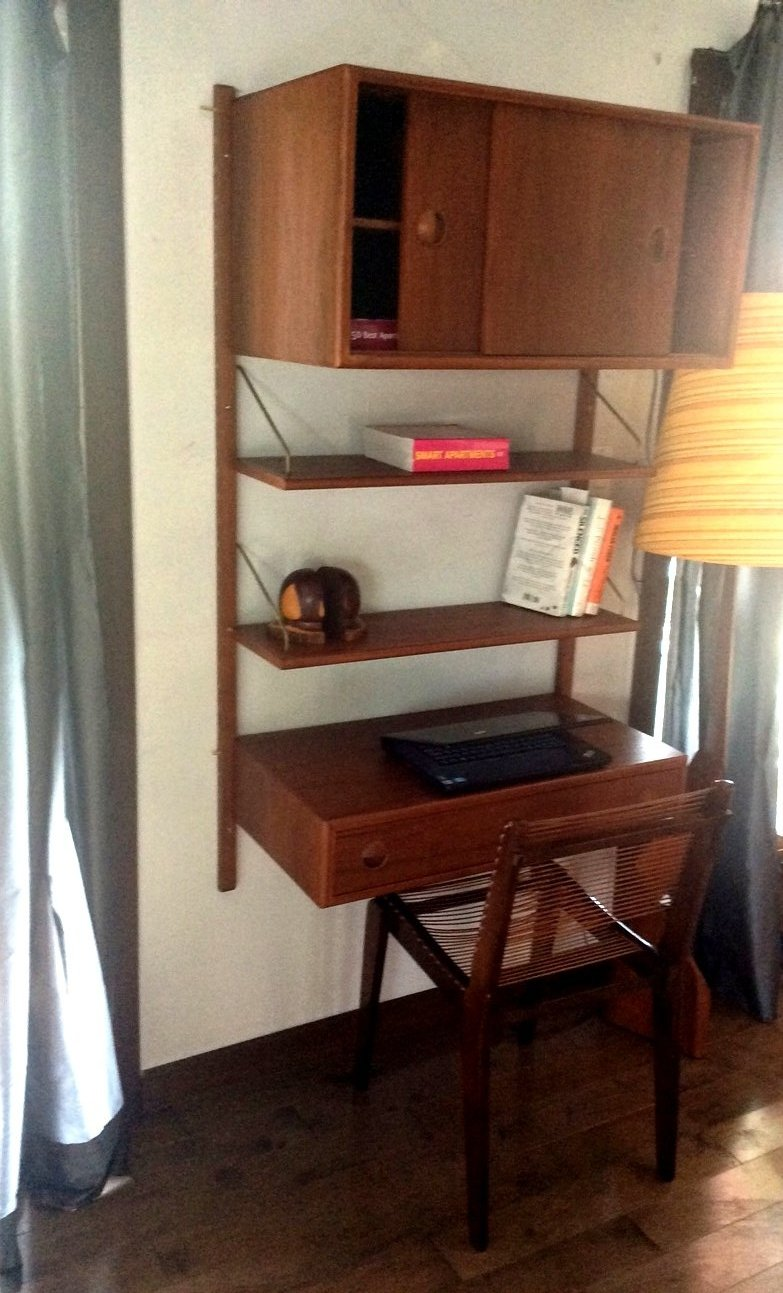 ON HOLD -TEAK MCM MODULAR WALL UNIT DANISH WITH STORAGE & DISPLAY, perfect - Mid Century Modern Toronto