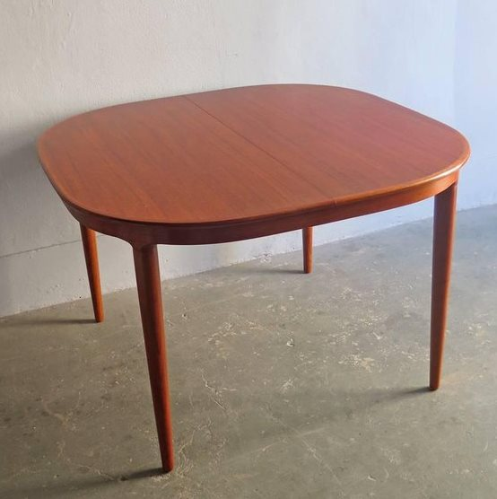 REFINISHED Danish MCM Teak Table by Skovmand and Andersen (no leaf) 45