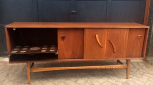"REFINISHED MCM  Walnut Bar Sideboard or Media Console 70""perfect - Mid Century Modern Toronto"