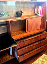 "Load image into Gallery viewer, REFINISHED Danish Mid Century Modern Teak Highboard (2 parts) 78"" - Mid Century Modern Toronto"