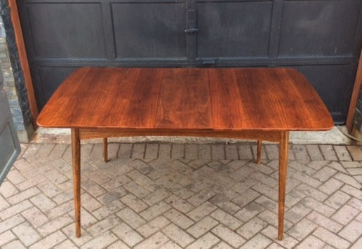 REFINISHED MCM  Walnut Table w 1 leaf 50
