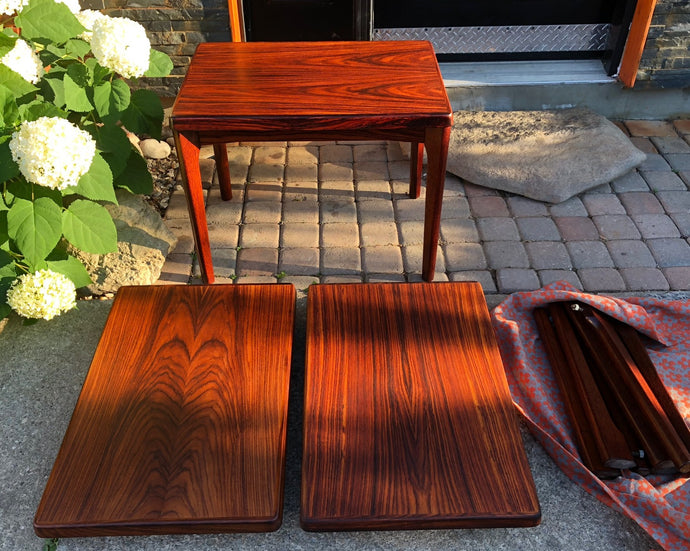 REFINISHED Danish MCM  Rosewood Accent Tables, 3 available, $299 each - Mid Century Modern Toronto