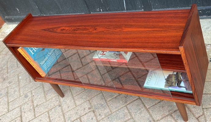 RESTORED Danish MCM Rosewood Bookcase Display w finished back 47.25