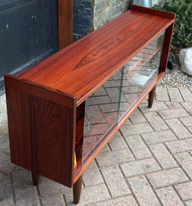 RESTORED Danish MCM Rosewood Bookcase Display w finished back 47.25""