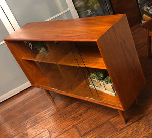 REFINISHED Danish MCM Teak Bookcase Display 4f, perfect - Mid Century Modern Toronto