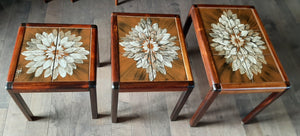 REFINISHED Danish MCM Rosewood nesting tables, set of 3, Perfect