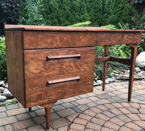 REFINISHED Sculptural MCM Jan Kuyper Solid Wood Desk by Imperial, perfect - Mid Century Modern Toronto