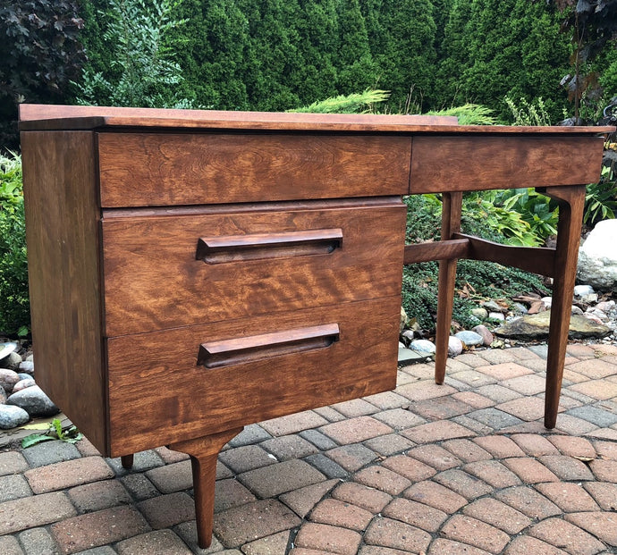 REFINISHED Sculptural MCM Jan Kuyper Solid Wood Desk by Imperial - Mid Century Modern Toronto