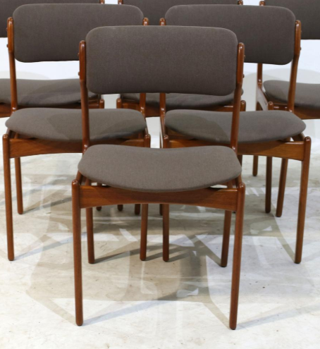 4 Erik Buch OD-49 MCM Teak Chairs Will Be Custom REUPHOLSTERED, each $349 - Mid Century Modern Toronto