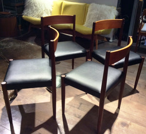 4 Poul Volther for Frem Rojle Danish MCM Teak Chairs REFINISHED REUPHOLSTERED, perfect, like new - Mid Century Modern Toronto