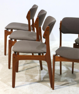 SOLD --4 Erik Buch OD-49 MCM Teak Chairs Will Be Custom REUPHOLSTERED you, each $349 - Mid Century Modern Toronto