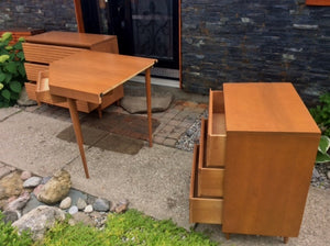 Sculptural MCM Set of 2 Solid Wood Dressers & Desk by Imperial - like new, for less than IKEA - Mid Century Modern Toronto