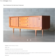 "Load image into Gallery viewer, REFINISHED Danish MCM Teak Credenza by B. Pedersen 78.5"" w sliding doors - Mid Century Modern Toronto"