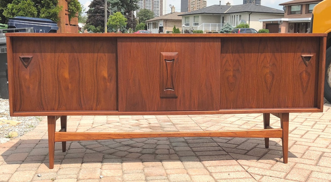 RESERVED for M. ****REFINISHED MCM Walnut Sideboard TV Console 70