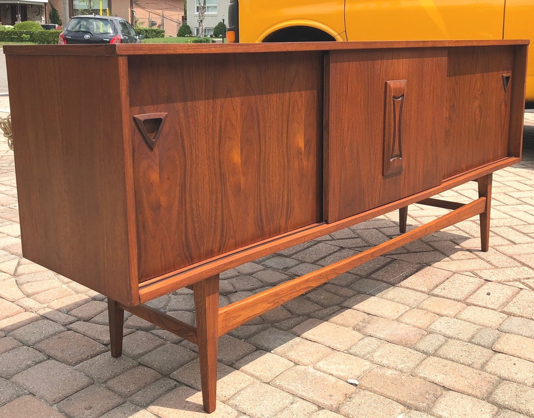 SOLD*****REFINISHED MCM Walnut Sideboard TV Console 70