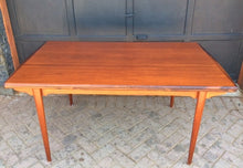 "Load image into Gallery viewer, REFINISHED MCM  Teak Draw Leaf Table W ROSEWOOD Edge 60""-98"" - Mid Century Modern Toronto"