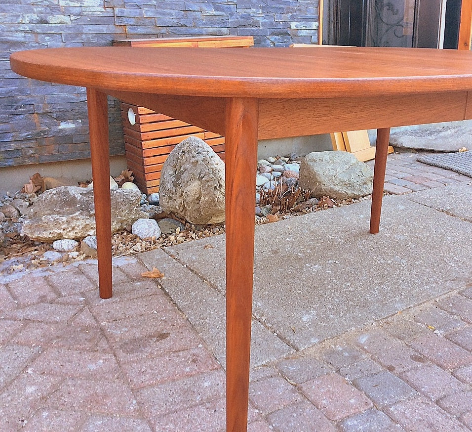 MCM Oval Teak Table Extendable REFINISHED by TROEDS 61