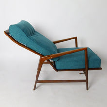 Load image into Gallery viewer, Will be REFINISHED & REUPHOLSTERED Danish MCM Walnut Lounge Armchair Recliner & Ottoman by IB Kofod Larsen for Selig