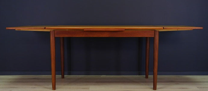 REFINISHED Danish MCM Teak Draw Leaf Table by Rogenstrup Mobelfabrik, PERFECT 49-84