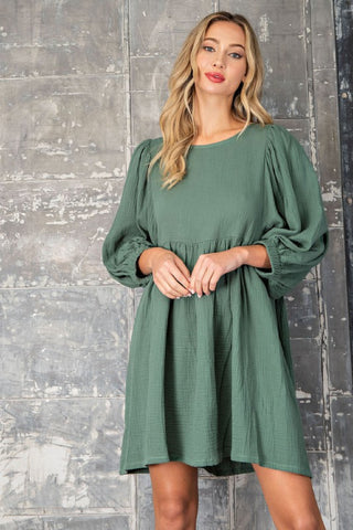 Fall Destination Dress - Hunter Green