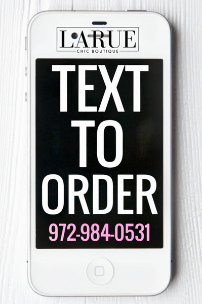 Text To Order