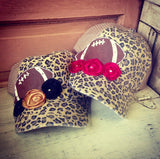 LEOPARD SPORTS CAP WITH ROSES