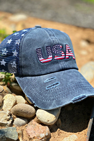 USA Star Cap - Navy