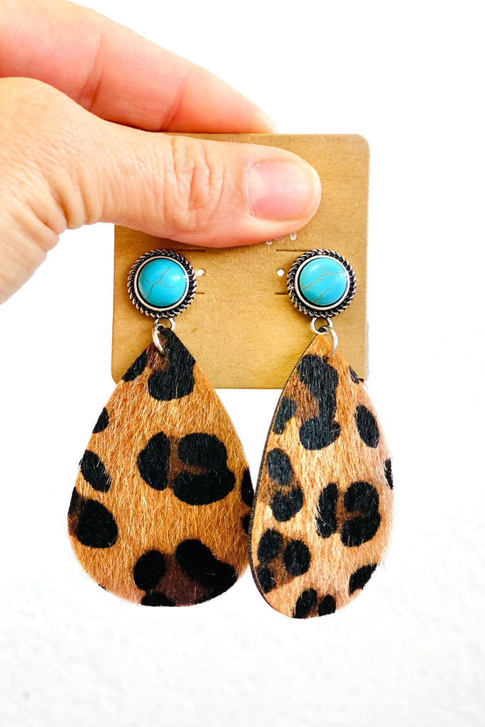 Leopard Drops Earrings