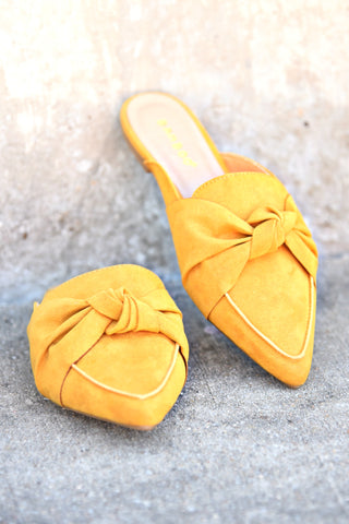 Fit For Flattery Mule - Mustard