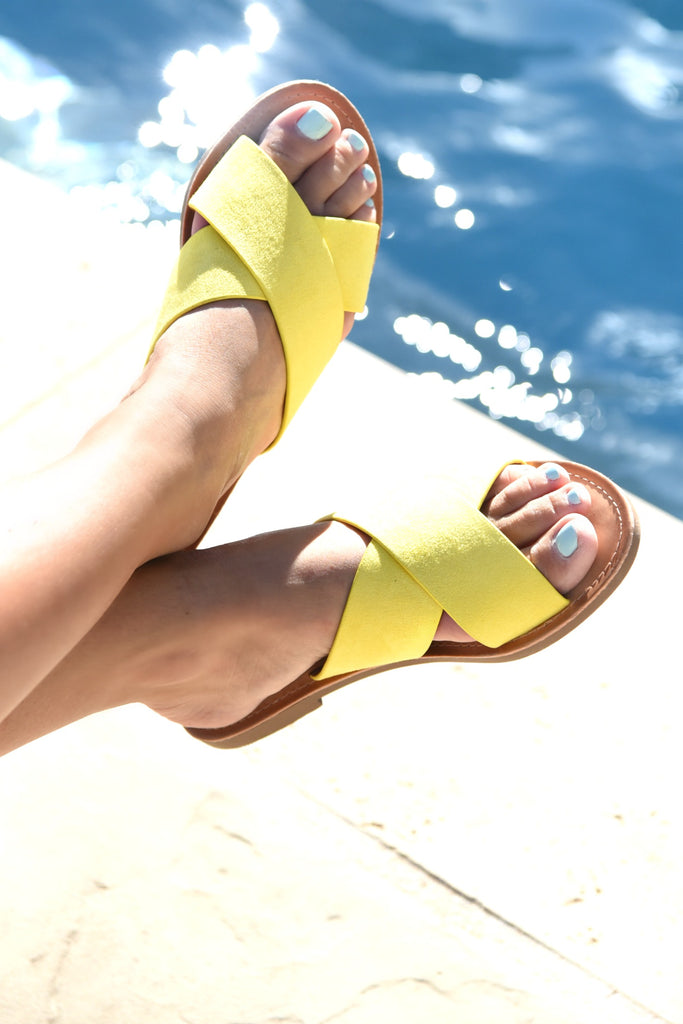 Hello Sunshine Sandals - Mustard